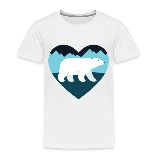 Polar Bear Love - Toddler Premium T-Shirt