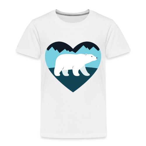 Polar Bear Love - Toddler Premium T-Shirt