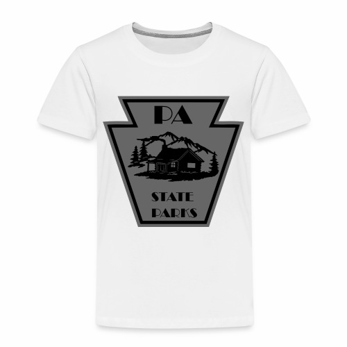 Keystone with Cabin Black and Grey - Toddler Premium T-Shirt
