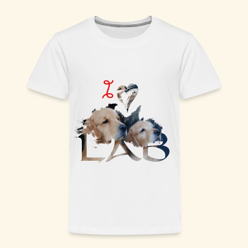 I love Lab - Toddler Premium T-Shirt