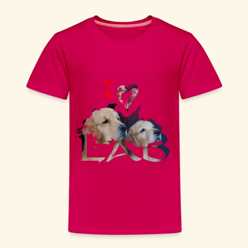 I love Lab - Toddler Premium T-Shirt