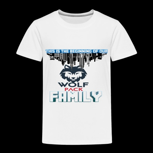 We Are Linked As One Big WolfPack Family - Toddler Premium T-Shirt