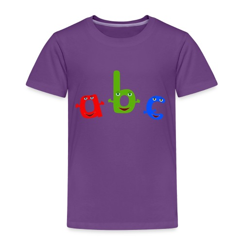 abc t shirt trans - Toddler Premium T-Shirt