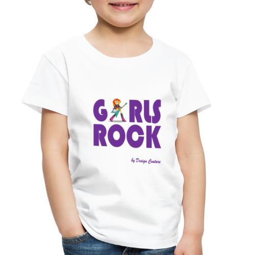 GIRLS ROCK PURPLE - Toddler Premium T-Shirt
