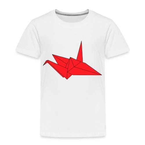 Origami Paper Crane Design - Red - Toddler Premium T-Shirt