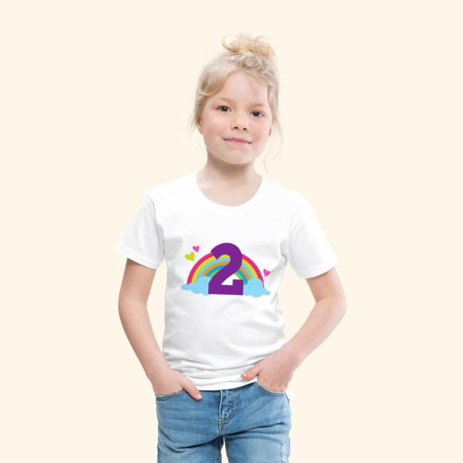 Kids birthday unisex t-shirt rainbow party clothing organic toddler fashion fun childrens age tee