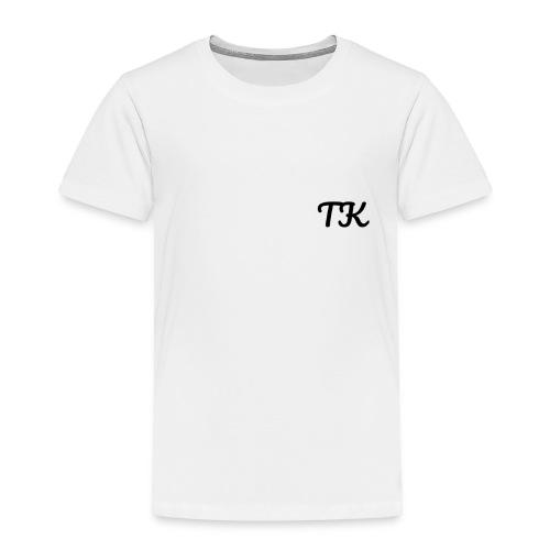 Thom Kenobi clothing TK initials in pacifico font - Toddler Premium T-Shirt