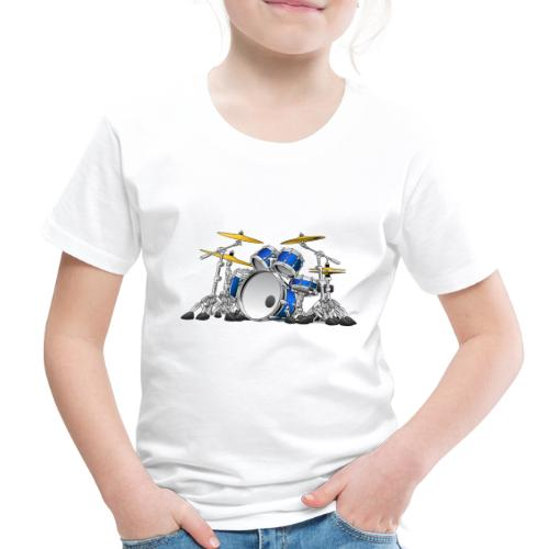 Drum Set Cartoon - Toddler Premium T-Shirt