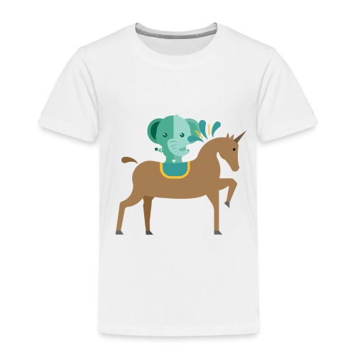 Unicorn and elephant - Toddler Premium T-Shirt