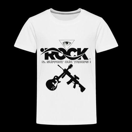 Eye Rock & Support The Troops - Toddler Premium T-Shirt