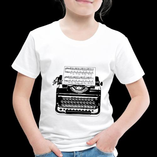 Music Type   Vintage Typewriter - Toddler Premium T-Shirt