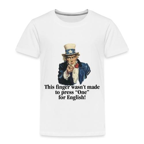 Uncle Sam - Finger - Toddler Premium T-Shirt