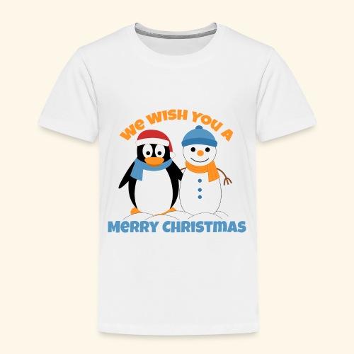 santa penguin with snowman christmas - Toddler Premium T-Shirt