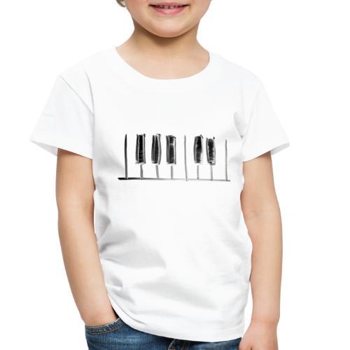 Hand Drawn Minimal Piano Design   Piano Keys - Toddler Premium T-Shirt