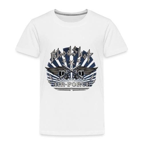 BloodShot Air Force with black - Toddler Premium T-Shirt