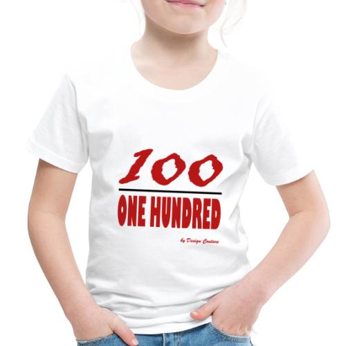 ONE HUNDRED RED - Toddler Premium T-Shirt