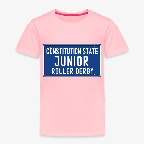Constitution State Junior Roller Derby - Toddler Premium T-Shirt