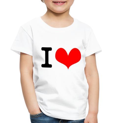 I Love what - Toddler Premium T-Shirt