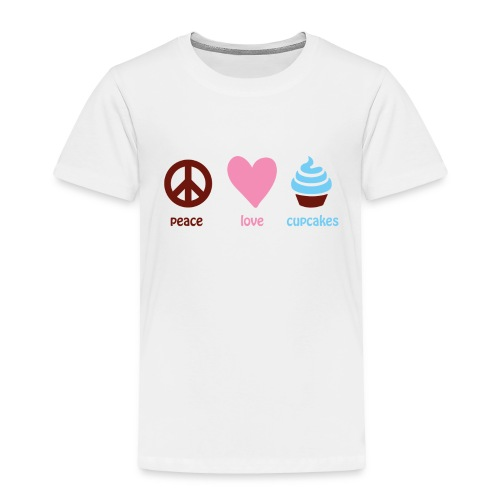 peacelovecupcakes pixel - Toddler Premium T-Shirt