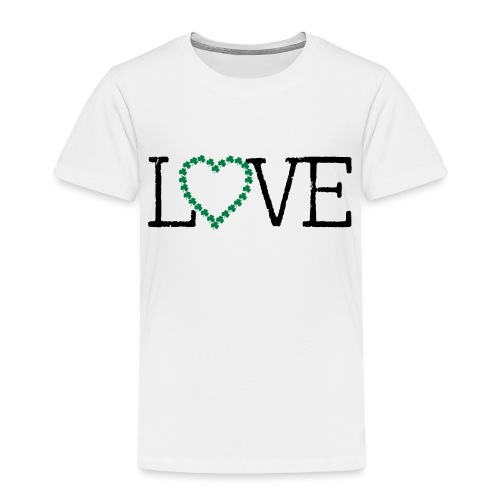 LOVE irish shamrocks - Toddler Premium T-Shirt