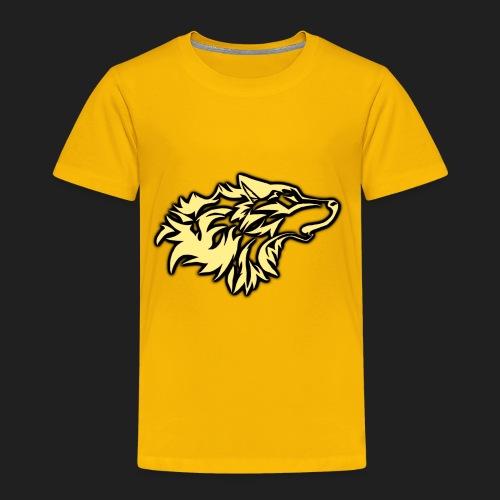 wolfepacklogobeige png - Toddler Premium T-Shirt