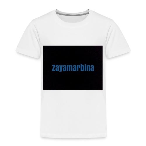 Zayamarbina bule and black t-shirt - Toddler Premium T-Shirt