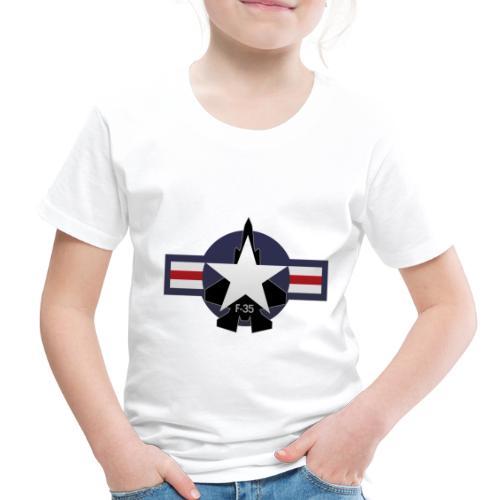F-35 Lightning II Military Jet Fighter Aircraft - Toddler Premium T-Shirt