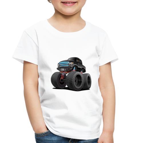 Monster Pickup Truck Cartoon - Toddler Premium T-Shirt