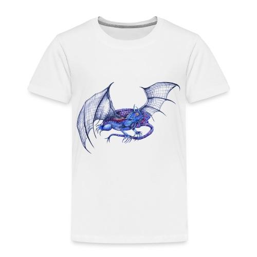 Long tail blue dragon - Toddler Premium T-Shirt
