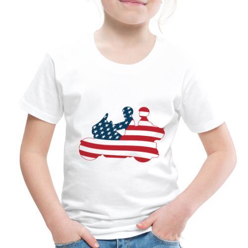 usa biker couple clr Tsmall - Toddler Premium T-Shirt