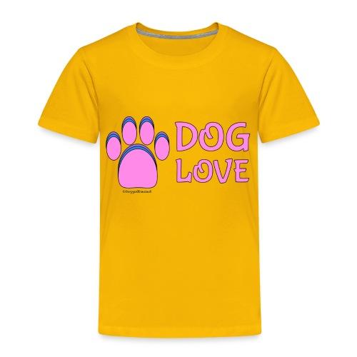 Pink Dog paw print Dog Love - Toddler Premium T-Shirt