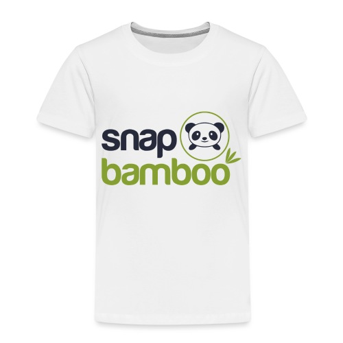 Snap Bamboo Square Logo Branded - Toddler Premium T-Shirt