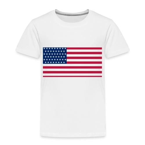 usa flag - Toddler Premium T-Shirt