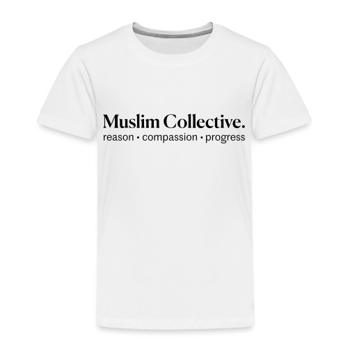 Muslim Collective Logo + tagline - Toddler Premium T-Shirt