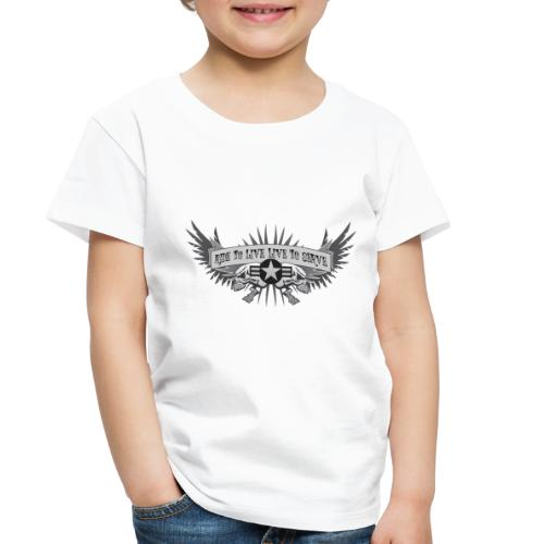 Ride to Live. Live to Serve. - Toddler Premium T-Shirt