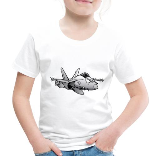 Military Fighter Attack Jet Airplane Cartoon - Toddler Premium T-Shirt