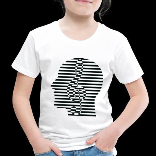 Treble Clef Cranium - Toddler Premium T-Shirt