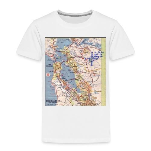 Phillips 66 Zodiac Killer Map June 26 - Toddler Premium T-Shirt