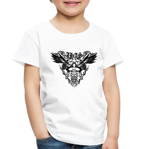 Vintage JHAS Tribal Skull Wings Illustration - Toddler Premium T-Shirt