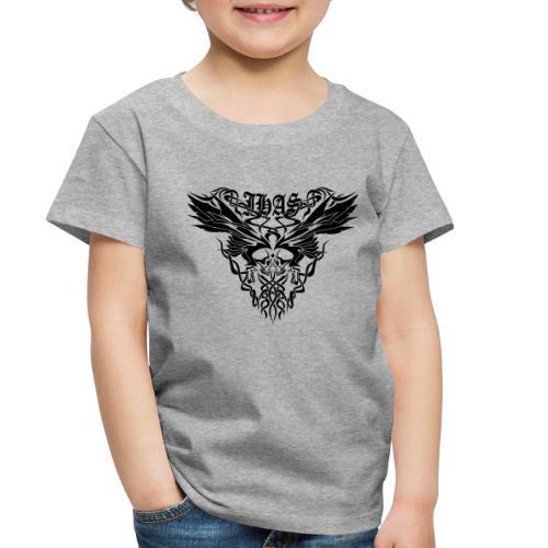 Vintage JHAS Tribal Skull Wings Illustration - Toddler Premium T-Shirt