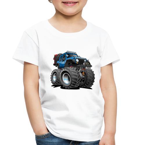 Off road 4x4 blue jeeper cartoon - Toddler Premium T-Shirt