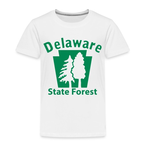 Delaware State Forest Keystone (w/trees) - Toddler Premium T-Shirt
