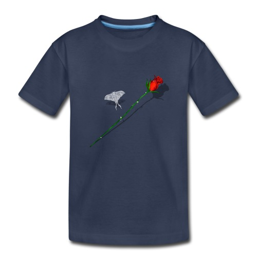Shadowed Rose-White Butterfly - Toddler Premium T-Shirt