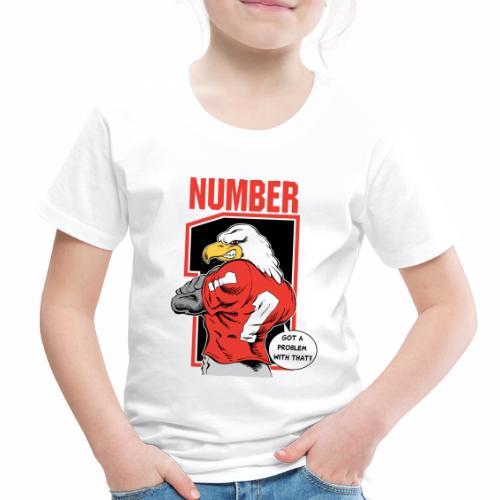 Eagle Back Number 1 - Toddler Premium T-Shirt