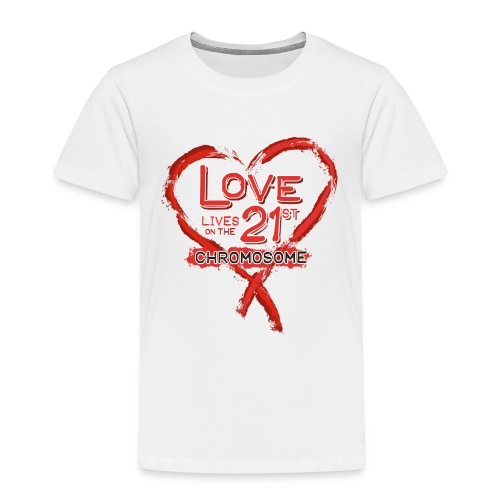 Down Syndrome Love (Red) - Toddler Premium T-Shirt