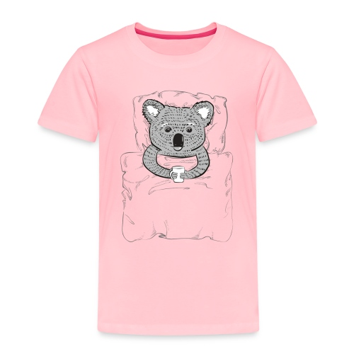 Print With Koala Lying In A Bed - Toddler Premium T-Shirt