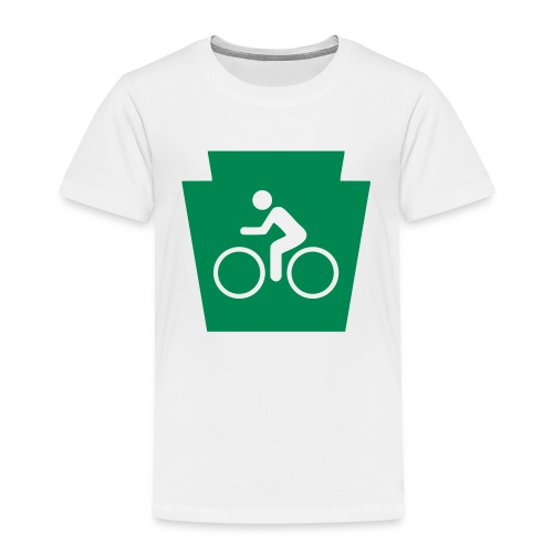 PA Keystone w/Bike (bicycle) - Toddler Premium T-Shirt