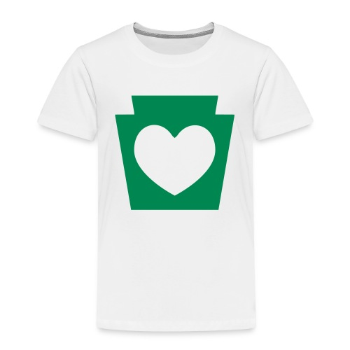Love/Heart PA Keystone - Toddler Premium T-Shirt