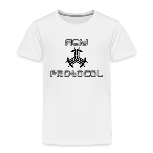 ACID PROTOCOL OFFICIAL LOGO BLACK - Toddler Premium T-Shirt