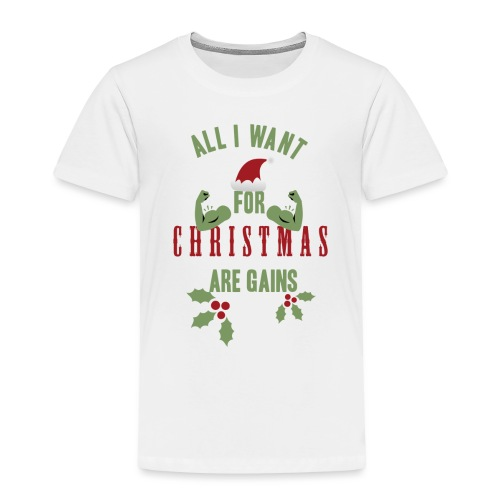 All i want for christmas - Toddler Premium T-Shirt